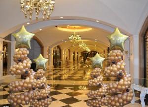 kerstboom ballonnen goud